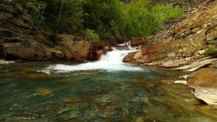 Free stock footage Clear river in a rocky landscape