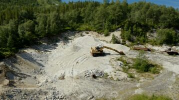 Free log stock footage: Small sand quarry in the forest