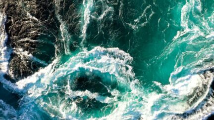 Free stock footage: Closeup view of a strong tidal current