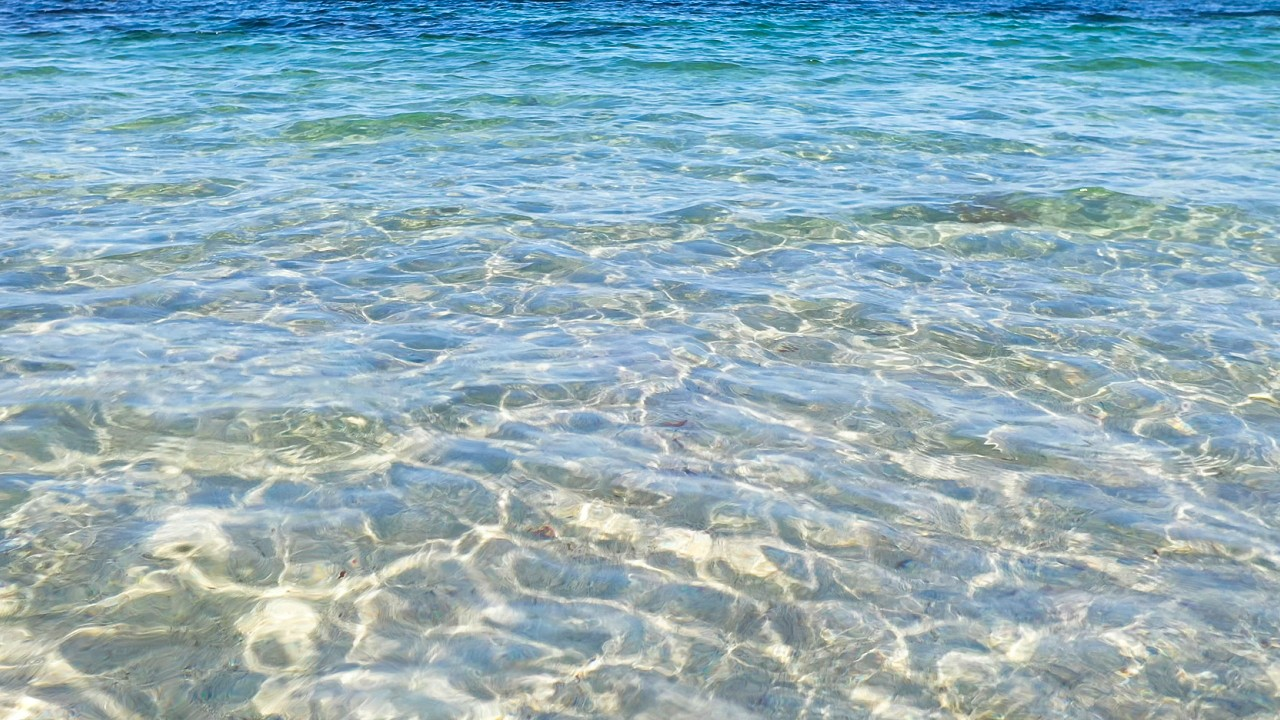 Free stock footage: Closeup view of clear ocean water