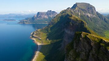 Free stock footage pack: Mountain ridge with steep cliffs