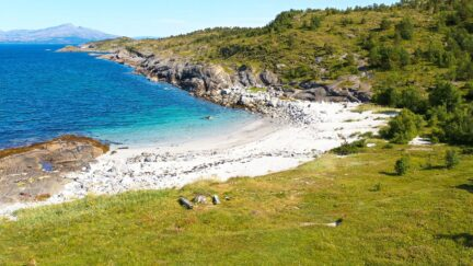 Free stock footage: Small beach on a sunny summer day